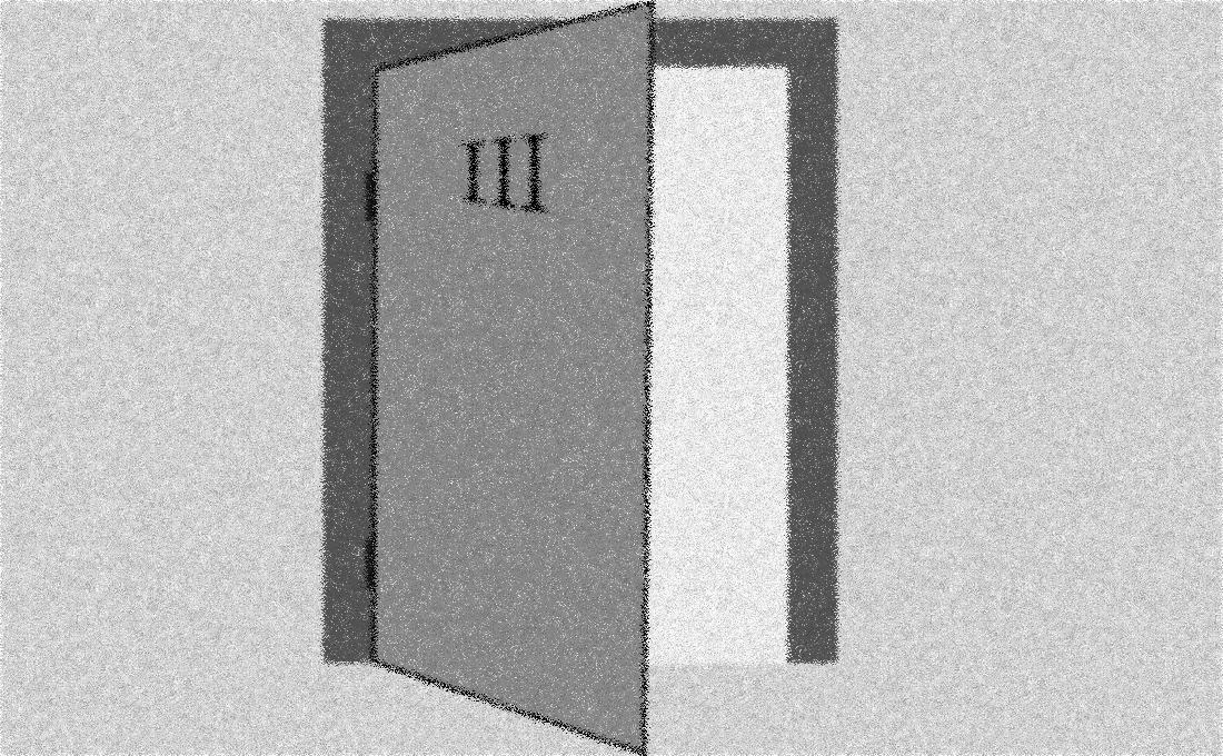 Puerta abierta que invita a entrar en una habitación con más luz.