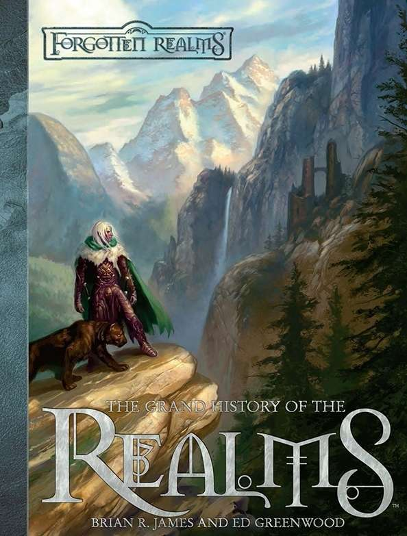 All of Toril, and especially Faerûn, is rich in history. As the eons have passed, empires have risen and fallen all around the world. This chronology presents the history of the FORGOTTEN REALMS setting in all its glory. We've brought together information from dozens of sources to provide the definitive chronicle.     *****   Product History   Brian R. James did something miraculous in the Grand History of the Realms (2007): It's the first truly unsolicited and fan-created project published by Wizards of the Coast, a work of passion that was first written and placed on the internet by a fan in the form of a 100-page PDF. Richard Baker of WotC noticed it, loved it, contacted the author, and arranged for Wizards to publish it officially. If you've ever dreamed that your fan-created work for Dungeons and Dragons might be published by the people who make the game, well, Brian James managed to pull it off.   What It Is. The Forgotten Realms is a huge and rambling place. That's no surprise, considering the number of authors and game designers who have added to the Realms over the past decades. At least in theory, all of these stories and events interlock into one cohesive world history (although admittedly sometimes better than others, depending on the extent of the authors and editors' Realms-lore).   With the quantity of products, however, it's often impractical for a single DM to understand the scope of a campaign's history or to understand what's happening at the same time elsewhere in the campaign world. Brian James made it possible by creating one massive and coherent timeline of the Forgotten Realms' published history, listing dates and events from every single Realms product published by TSR and Wizards of the Coast. The amount of work and attention to detail needed to pull this off somewhat boggles the mind, but the results are delightful for fans of the setting.   It's particularly effective to see this history collected in chronological order because the Realms' rich history has a variety of ways to count years in its calendar. There's Present Reckoning, Dalereckoning, Northreckoning, the Shou calendar, the Netheril Year, the Aryselmalyr calandar, and the Roll of Years (Year of the Cauldron, Year of the Bent Blade, Year of the Starving, and so on.) Tracking what happens at what time isn't easy for DMs who set their game there. This book solves that challenge neatly.   Commentary Galore. Adding value over the original free publication, the Grand History of the Realms has sidebars throughout, featuring commentary from Ed Greenwood and many other official Realms designers. These sidebars explain campaign features, discuss historical events, give first-person accounts of events as recounted by characters in the Forgotten Realms, and generally serve to round out the short descriptions of every notable event that has occurred in official products. Even historically important blood-stained letters and personal notes that describe notable events are included. Along with maps from different eras, these additions even out the book's pacing, stopping it from becoming a dry encylopedic accounting of events and turning it into graphically rich account of Realms lore.    Homebrew Inspiration. This book is a must-buy for anyone interested in the Forgotten Realms; there is literally no other publication that comes close to pulling so many disparate threads together into one cohesive, easily understood timeline. It's also extremely useful for DMs who homebrew their campaigns instead of playing in the official campaign setting. Many games lack the weight of history simply because the DM has neither time nor energy enough to build the many events needed to add texture to their world. PCs in a homebrew game may encounter ruins, for instance, but the DM may never have decided why they're ruined or what happened to the people who once lived there.   The Grand History of the Realms is a great example for how a DM can add that sort of detail into a game, and it provides perspective for the massive sweep of a campaign's history. The book also provides a large quantity of ideas for DMs to blatantly and unapologetically steal. After all, every important event published in a Forgotten Realms product is detailed here; if that doesn't give a DM great ideas for her own campaign, nothing will. File off the serial numbers and go!   Superb Reviews. The Grand History of the Realms is consistently reviewed very positively for a good reason: It's a fun, useful book full of information that you won't be able to find anywhere else. Value has been added over the original free PDF through maps, art, and sidebar commentary. If you're interested in campaign building or the Forgotten Realms in general, whatever edition of the game you might be playing, this tome is well worth owning.   About the Creators. Brian R. James is an award-winning game designer and patent-holding software engineer. Getting his start in game design with this product, he has contributed to many 4e D&D products, including Demonicon, Underdark, Menzoberranzan: City of Intrigue, and more. He has numerous contributions to both Dungeon and Dragon magazines, and he won a Silver ENnie award in 2012 for Monster Vault: Threats to the Nentir Vale.