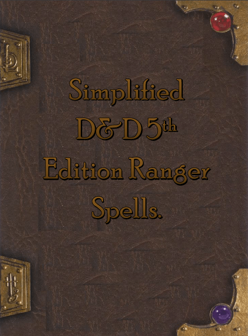 Simplified 5e Ranger Spellbook Dungeon Masters Guild