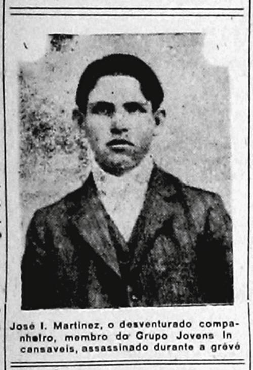 9 de julho de 1917: em confronto com a polícia, morre o operário José  Martinez, em incidente que dispara a greve geral de 1917 em São Paulo – DMT  – Democracia e