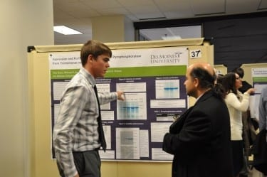Students present their research at the annual DMU Research Symposium