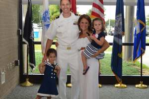 David Zelinskas, D.O.'10, M.P.H.'15, and Sara Zelinskas, D.P.M.'10, with their daughters Charley and Avie