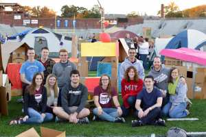 HCO members construct a tiny home village at Reggie's Sleepout