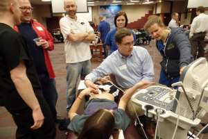 DMU Students with Ultrasound