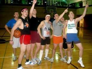 basketball in shorty shorts