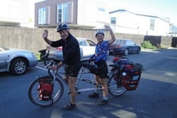 Dr. Wendy Ring and her spouse are biking for change. Photo: Physicians for Social Responsibility