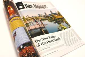 Des Moines was featured in Sky magazine