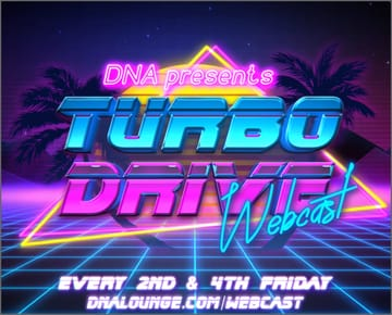 Turbo Drive: Party-in-Place Webcast Flyer