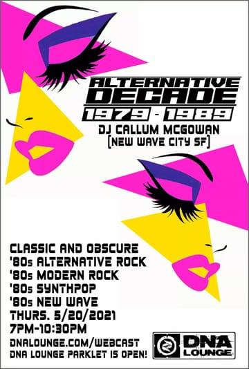 Alternative Decade: 1979-1989 Flyer