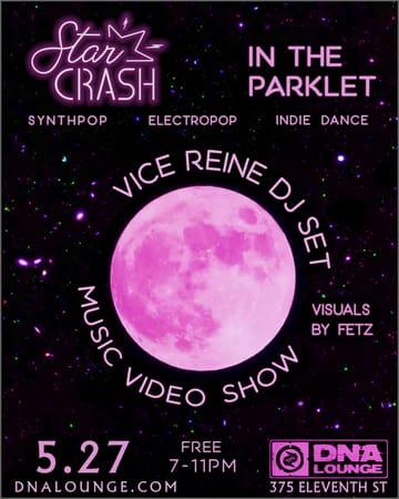 Star Crash: Parklet Party Flyer