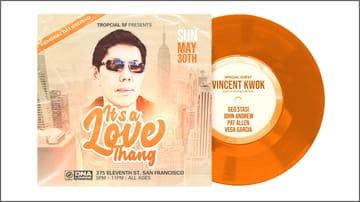 It's a Love Thang: Parklet Party Flyer