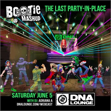 Bootie Mashup: Party-In-Place Webcast Flyer