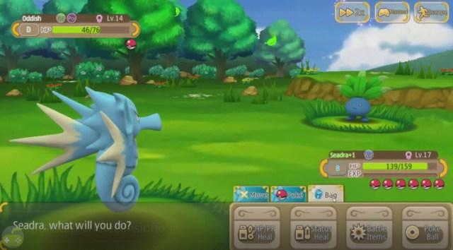 Monster Park combattimento Seadra Oddish