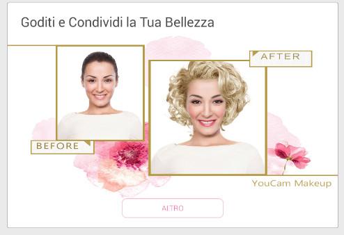 YouCam Makeup condivisione dei makeup