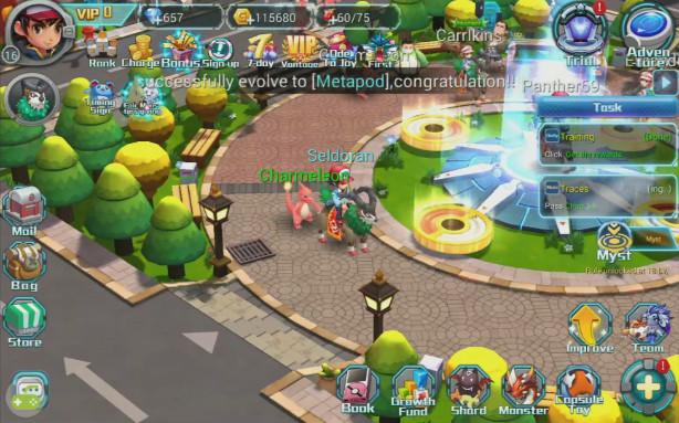 Fantasy Myst schermata generale del gioco