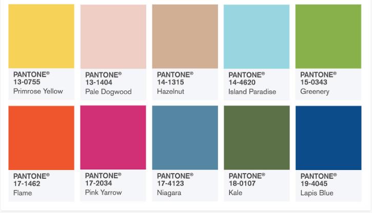 Модни цветове` 2017. Pantone