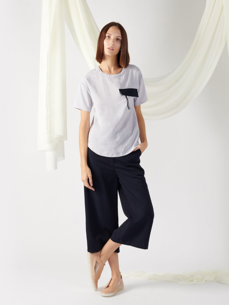 top with flap pocket in midnight blue (copy)