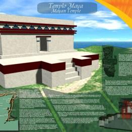Poster Templo de Ixchel para Grupo Xcaret