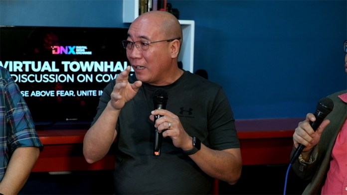 Bacolod City Vice Mayor El Cid Familiaran during the Virtual Townhall: A Discussion on COVID19 at DNX studio. | Photo by Banjo C. Hinolan