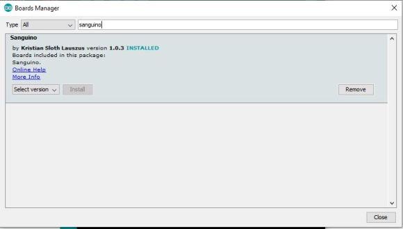 Arduino IDE - Boards Manager Sanguino Install Process Install Marlin 2.0.5.3 Ender-3 Pro