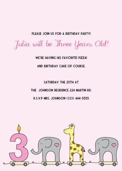 printable 3rd birthday invitations diy