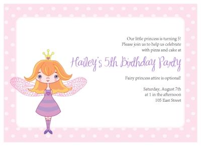 printable fairy princess party