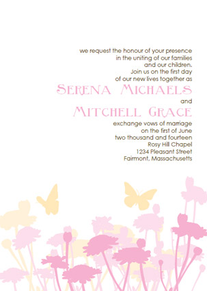 Printable Butterfly Wedding Invitation Templates