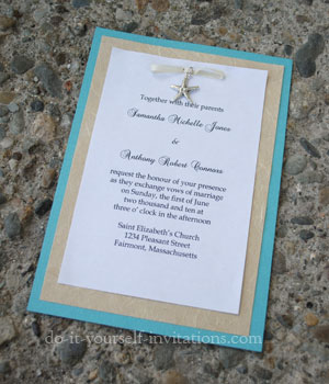 Beach Themed Wedding Invitations Uk