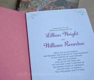 Diy Pport Wedding Invitations