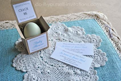 Unique Baby Shower Egg Invitations
