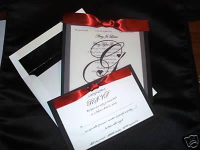 Elegant Black Red And White Wedding