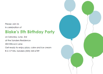 Birthday Invitations Free Templates. Backgrounds For Word