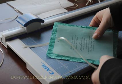 Diy Handmade Paper Wedding Invitations Tie The Ribbon
