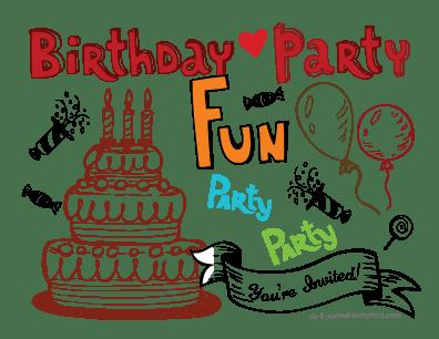 printable birthday postcard invitations
