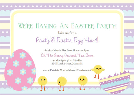 Free Printable Easter Cards Invitations