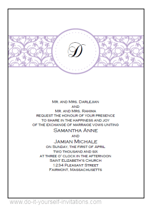 Erflies Wedding Beauteous Free Invitation