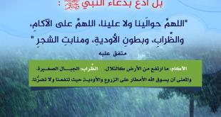 الشتاء - ما يقال إذا اشتدت الأمطار وخيف منها الضرر