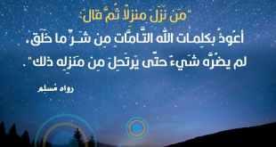 أعوذ بكلمات الله التامات من شر ما خلق
