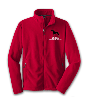 Unisex-Fleece-Jacket-Red