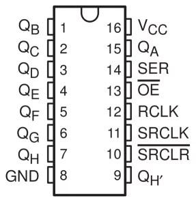 74HC595 | Display 7 segmentos