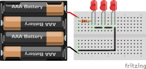 LED em serie | cálculo de resistores