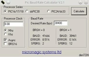 Cálculo do baud rate para PIC • Do bit Ao Byte