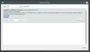 Board Selection   programar esp8266
