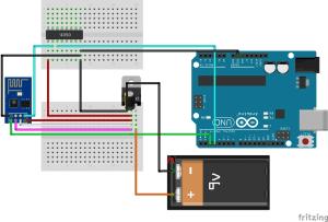 CD4050 com ESP8266 - Wiring