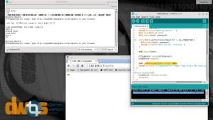 Terminal serial, browser e arquivo binário   Atualização sem fio