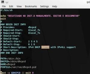Cabeçalho de um script do init.d | botão para desligar raspberry