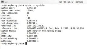 ntpdc -c sysinfo   atualização OTA por MQTT