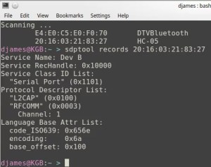 Bluetooth HC-05 - sdptool records