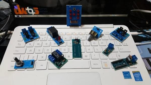 Alguns produtos GBK Robotics