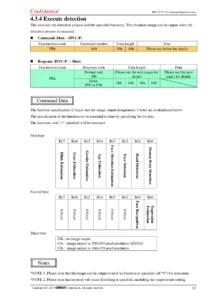 Especificação de comandos